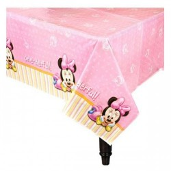 Toalha Plástica Minnie Rosa Baby Decoração Festa Infantil