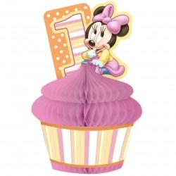 Enfeite de Mesa Minnie Rosa Baby Decoração Festa Infantil