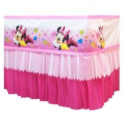 Babado Saia de Crepom Minnie Rosa Decoração Festa Infantil