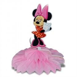 Enfeite de Mesa Minnie Rosa Decoração Festa Infantil