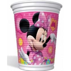Copo Plástico Descartável Minnie Rosa Decoração Festa
