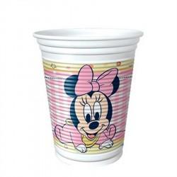 Copo Plástico Descartável Minnie Baby Rosa Decoração Festa