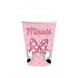 Copo Descartável Papel Minnie Rosa Decoração Festa