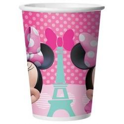 Copo Descartável Papel Minnie Rosa Paris Decoração Festa