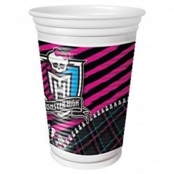Copo Descartável Monster High Plástico 24un