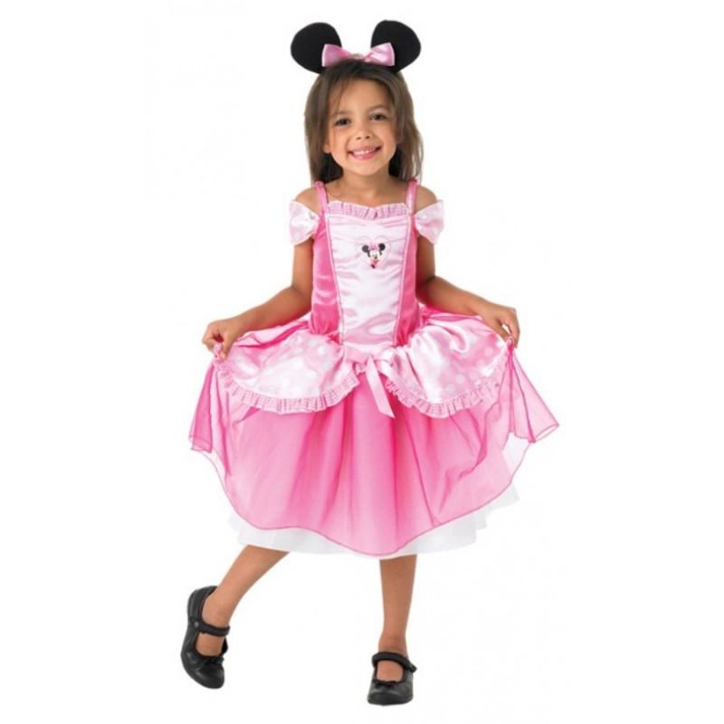 Fantasia Infantil Minnie Rosa Meninas Halloween Carnaval