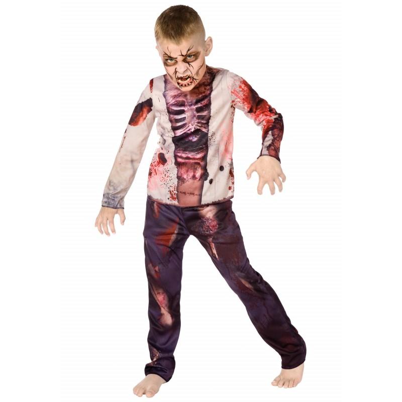 Fantasia Infantil Zumbi Meninos Halloween Carnaval