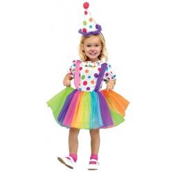 Fantasia Infantil Palhacinha Meninas Halloween Carnaval Festa