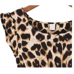 Vestido Casual Estampado Leopardo