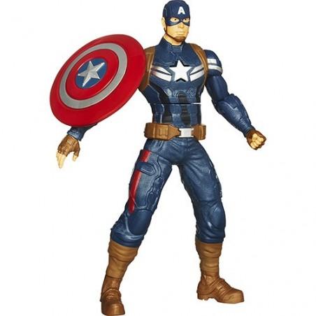 Boneco Super-herói Marvel Capitão América com Lançador de Escudo