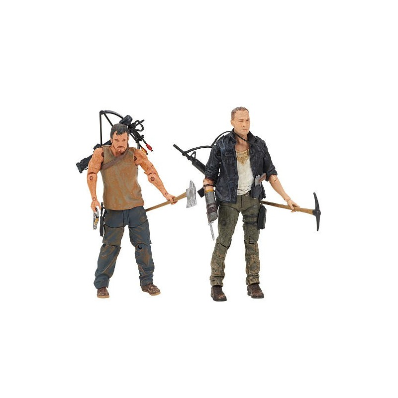 Bonecos The Walking Dead Personagens Daryl e Merle Dixon
