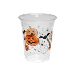 Copo Plásticos Descartável Halloween 24un Preto e Laranjado