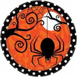 Pratinho Descartável Festa Halloween Aranha 10un