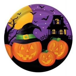 Pratinho Descartável Halloween Abóboras 10un