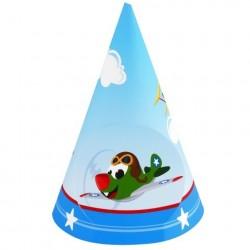 Chapeuzinho de Aniversário Aviões Festa Infantil Meninos 24un