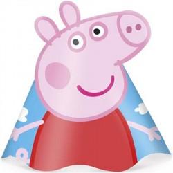 Chapeuzinho de Aniversário Peppa Pig Festa Infantil 8un