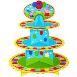Bandeja Porta Cupcake Peppa Pig Festa Infantil 8un