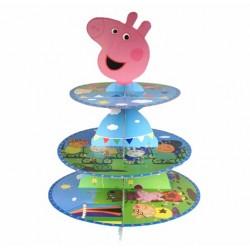 Bandeja Porta Cupcake Peppa Pig Festa Infantil