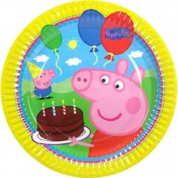 Prato Descartável Peppa Pig Festa Infantil 12un