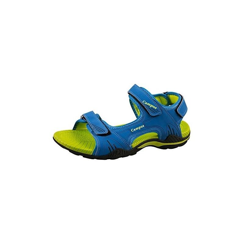 Sandália Masculina Esportiva Corrida Azul Verde