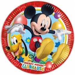 Prato Descartável Mickey Mouse Festa Infantil com 12un