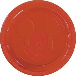 Pratinho Plástico Mickey Mouse Festa Infantil com 12un