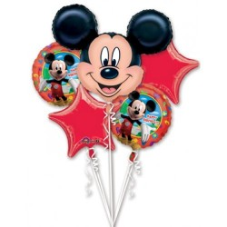 Kit de Balões Metalizados Mickey Mouse Disney Festa Meninos