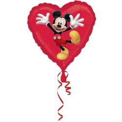 Balão Metalizado Coração Mickey Mouse Festa Meninos