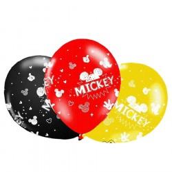 Bexigas de Látex Disney Mickey Mouse Festa Meninos 50un