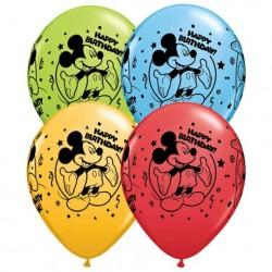 Bexigas de Látex Mickey Mouse Aniversário Infantil 50un