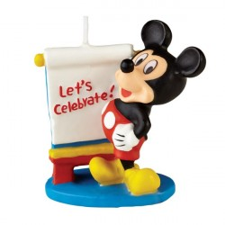 Vela para Bolo Aniversário Mickey Mouse Aniversário Infantil