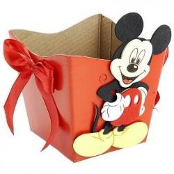 Cachepot Decorativo Mickey Mouse Vermelho Festa Infantil