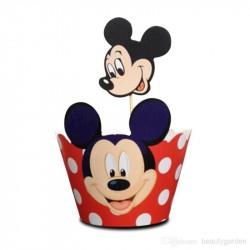 Forminha para Cupcake Wrapper Mickey Mouse Festa Infantil