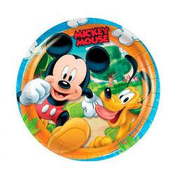 Prato Plástico Descartável Mickey Mouse Festa Infantil