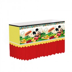 Saia Babado para mesa Mickey Mouse Festa Infantil