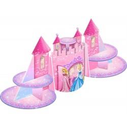 Suporte para Cupcake ou Doces Castelo Cinderela Princesas