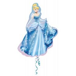 Balão Metalizado Princesa Cinderela Festa Infantil