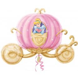 Balão Metalizado Carruagem da Princesa Cinderela Festa Infantil