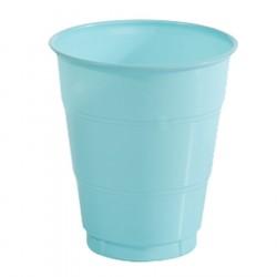 Copo Plástico Descartável Azul Claro 24un