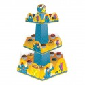 Suporte para Cupcake ou Doces Galinha Pintadinha Descartável Quadrado 12un