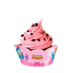 Wrapper para Cupcake Galinha Pintadinha Rosa 8un