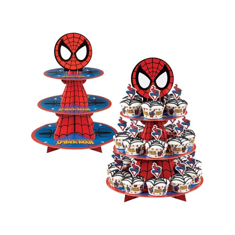 Bandeja para Doces e Cupcakes Homem Aranha