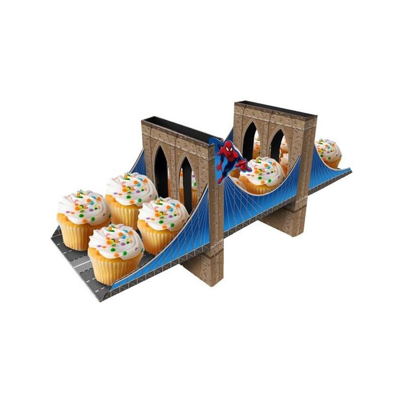 Bandeja Porta Cupcake Homem Aranha Ponte