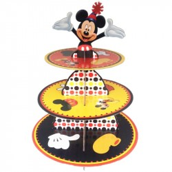 Bandeja Porta Doces Cupcakes Mickey Mouse