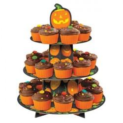 Bandeja Porta Cupcake Abóboras Halloween Dia das Bruxas