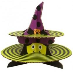 Bandeja Porta Cupcake Bruxa Halloween Dia das Bruxas