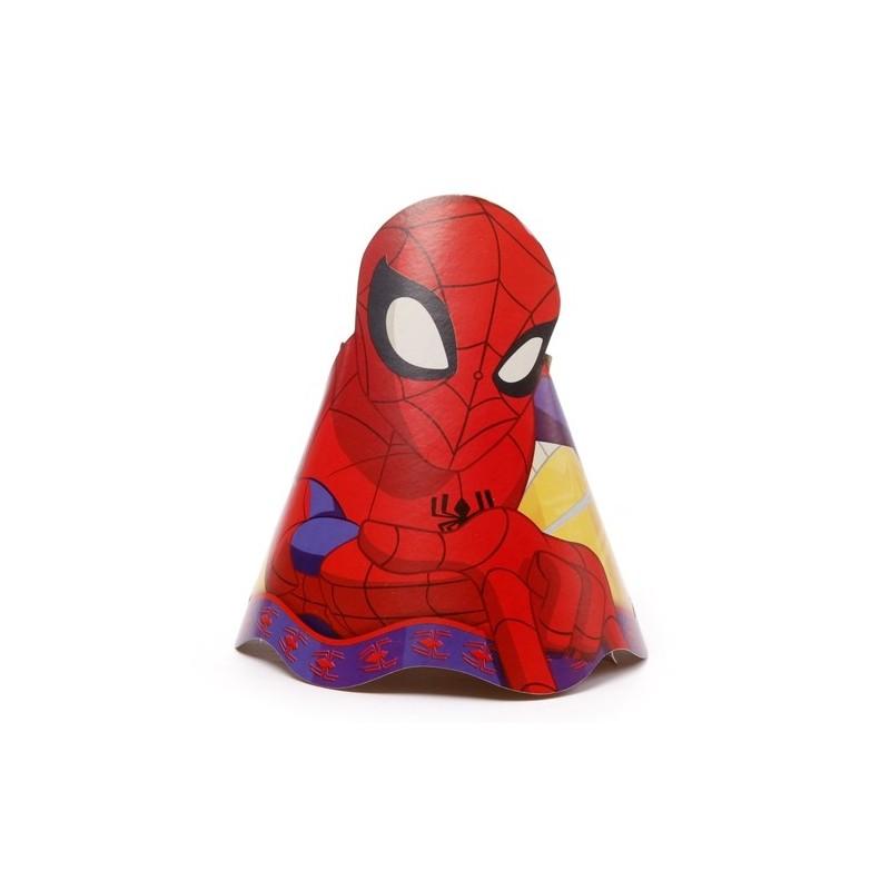 Chapéu de Aniversário Homem Aranha Spider Man 8un