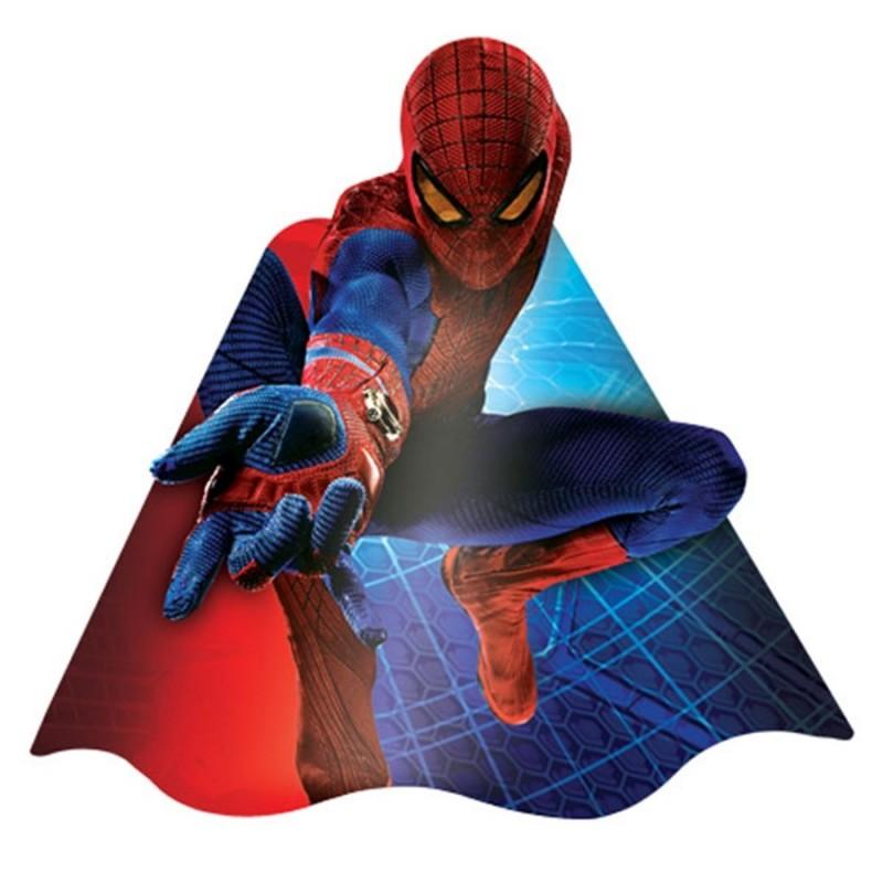 Chapeuzinho de Aniversário Homem Aranha 8un