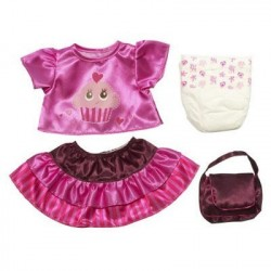 Kit Roupinha Baby Alive Saia Blusa Bolsa e Fralda Set Acessórios
