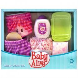 Kit de Roupinha e Fraldas para Boneca Baby Alive